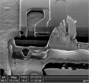 SEM of acceleration, shock test on Z axis