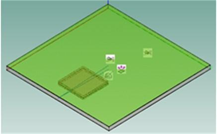 SEA model of the small reverberation  box body