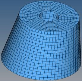 Finite element model of jounce bumper