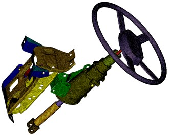 Finite element model of the steering system