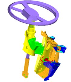 Top 6 order modals of the steering system