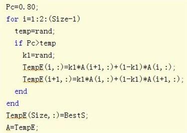 Genetic algorithm crossover code