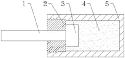 Schematic diagram of elastomer buffer structure