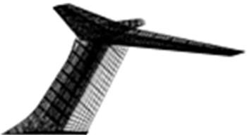 Aerodynamic mesh model of T-tail