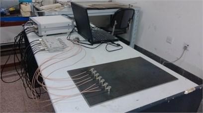 Pencil lead broken test on a steel plate