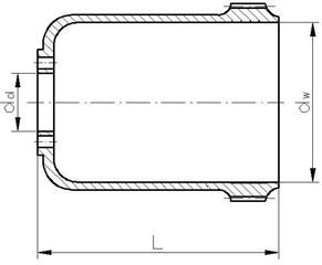 Basic geometrical dimensions of the following flexsplines