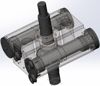Virtual prototype of the synchronization mechanism