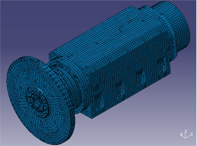 Finite element model of the spindle system