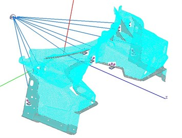 Hybrid FE-SEA model of dash panel