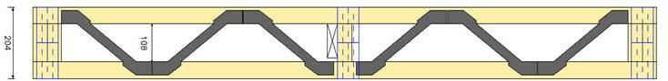 Hybrid beams type MiTek with PosiStrut metal joining system