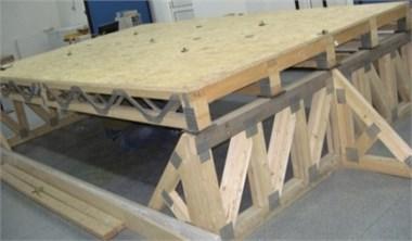 The experimental model of the hybrid floor