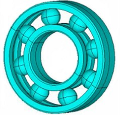 The finite element model of the bearing