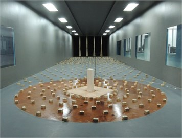 The CAARC building model in wind tunnel tests