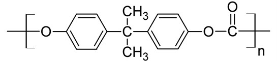 Chemical formula of polycarbonate