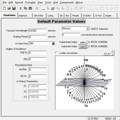 Main window of GSolver  (default parameter window)