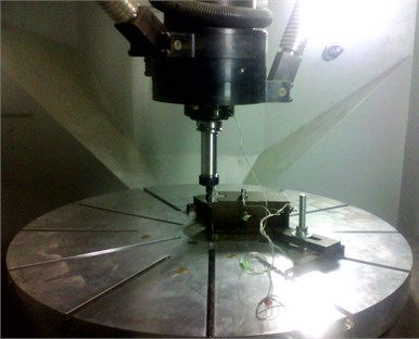 Working area of the machining center Metrom P1000