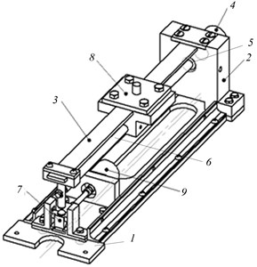 A schematic diagram of a shock vibration damper