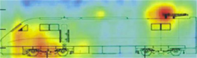 Low frequency noise distribution of the high-speed train
