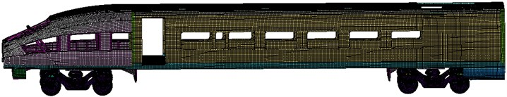 Finite element meshes of the high-speed train