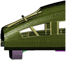 Local structure meshes of the high-speed train