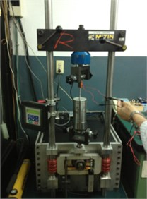 Experiment apparatus for test of MR damper