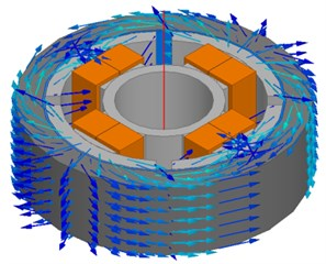 Structure and magnetic flux of multiple-pole piston in MR damper