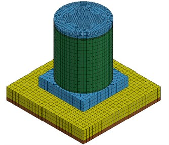 Numerical model for seismic test