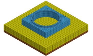 Numerical model for harmonic excitation test