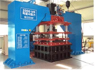 Compression-shear test machine