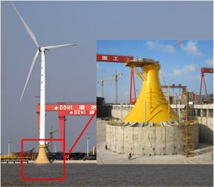 Offshore wind turbines with LSPCBF