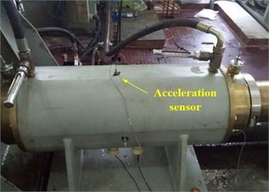 The shaft experimental platform and the acceleration sensor