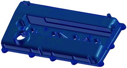 The finite element model of the  cylinder head cover