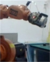 The grasping process of robot manipulator