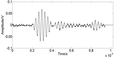 Damage signal captured by PZT B