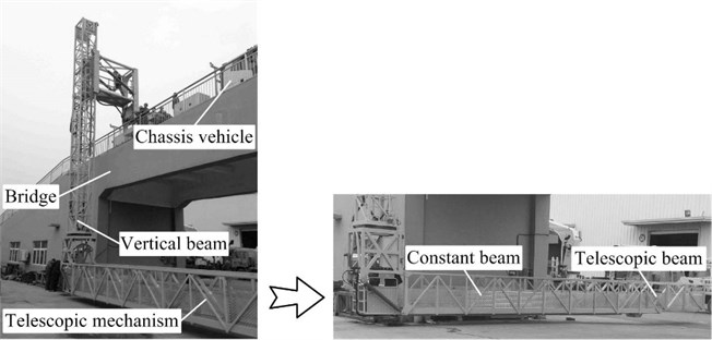Truss structure bridge inspection vehicle