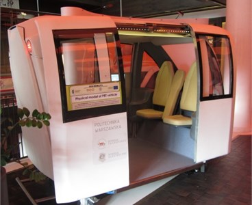 PRT cabin model (Warsaw University of Technology – ECO Mobility)