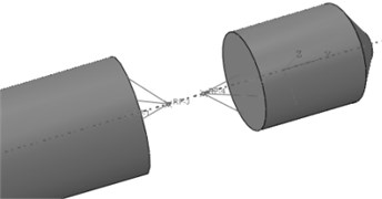 The finite element model  of simplified connection