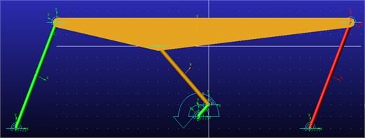 Six bar linkage motion simulation in MD Adams