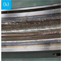 Damaged slewing bearing parts
