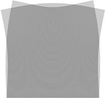 Stroboscopic geometric moiré images for the fourth eigenmode:  a) the first direction of fringes, b) the second direction of fringes
