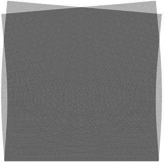 Superimposed stroboscopic geometric moiré image for the third eigenmode