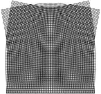 Superimposed stroboscopic geometric moiré image for the fourth eigenmode