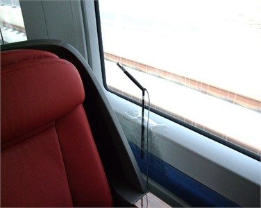 Testing point of the interior noise in the high-speed train