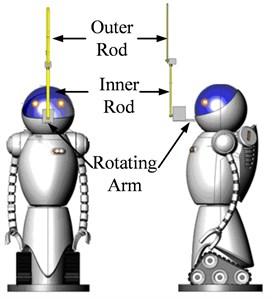 Double pendulum robot