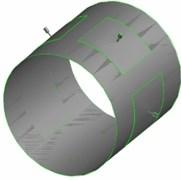 Entity of liquid hybrid bearing and three-dimensional model of film