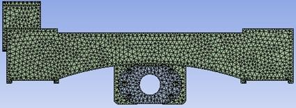 The finite element model of the slide