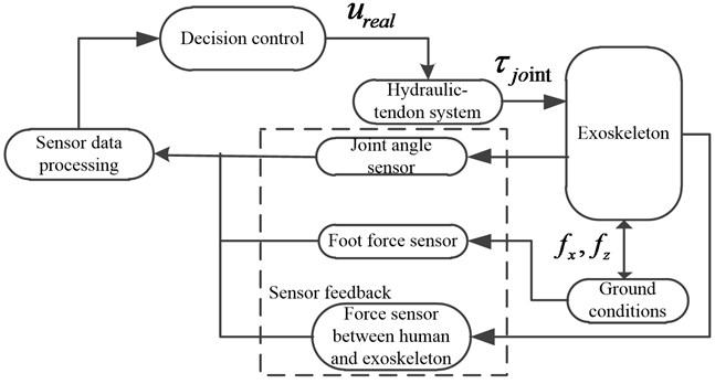 Control system architecture of the exoskeleton