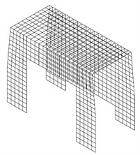 Numerical models of front segment of modular firefighting superstructures