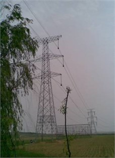 SZ21-type tangent transmission tower  in Liaoning province, China