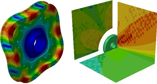 Modal shape and radiation sound field of the standard wheel